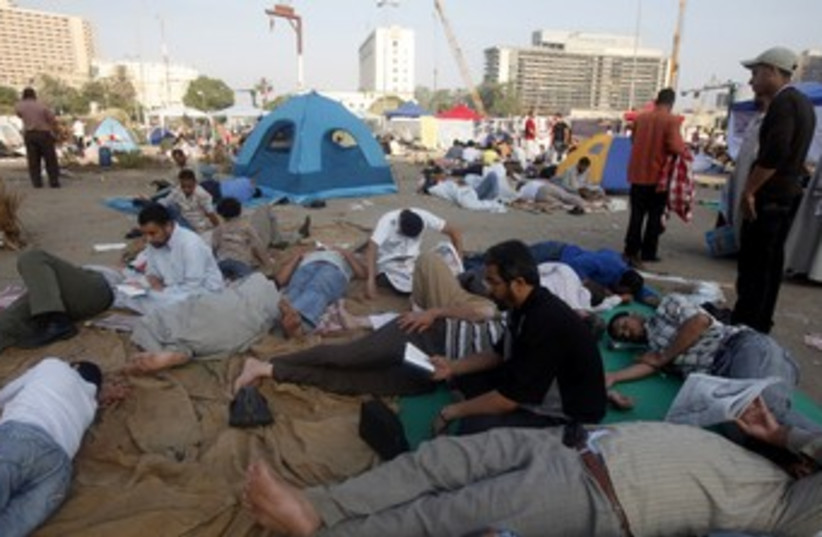 Egyptians stage sit-in in Tahrir Square 370 (photo credit: REUTERS)