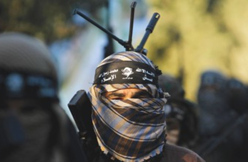 Army of Islam militant 370 (photo credit: REUTERS)