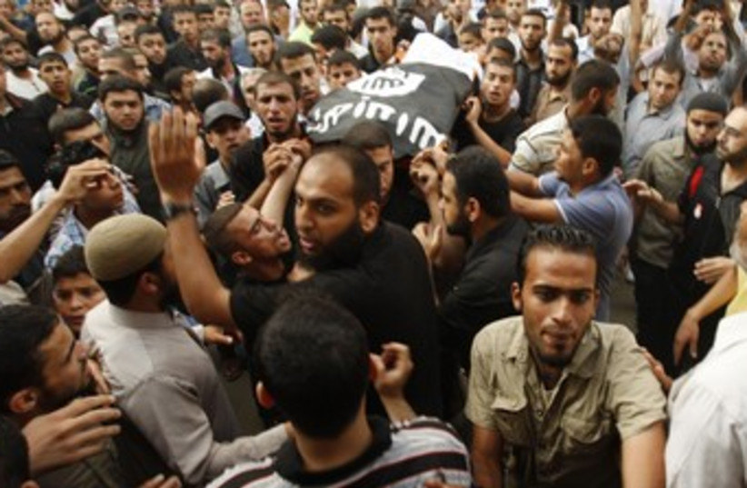 Funeral for PRC terrorist killed by IAF airstrike 370 (photo credit: REUTERS)