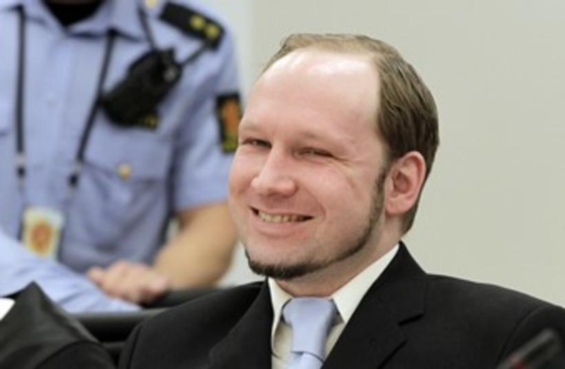 Breivik smiling on last day of trial  (photo credit: REUTERS)