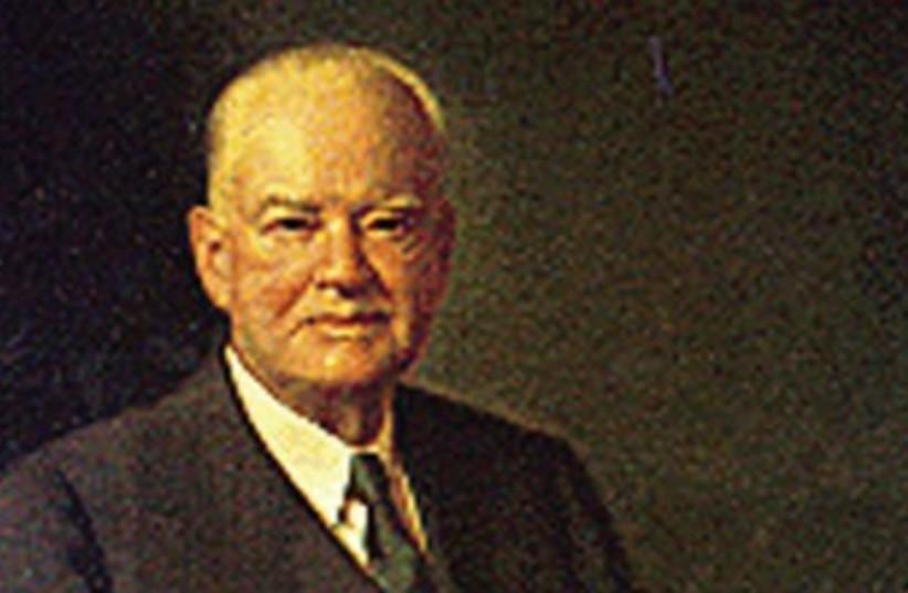 US president Herbert Hoover 370 (photo credit: REUTERS)