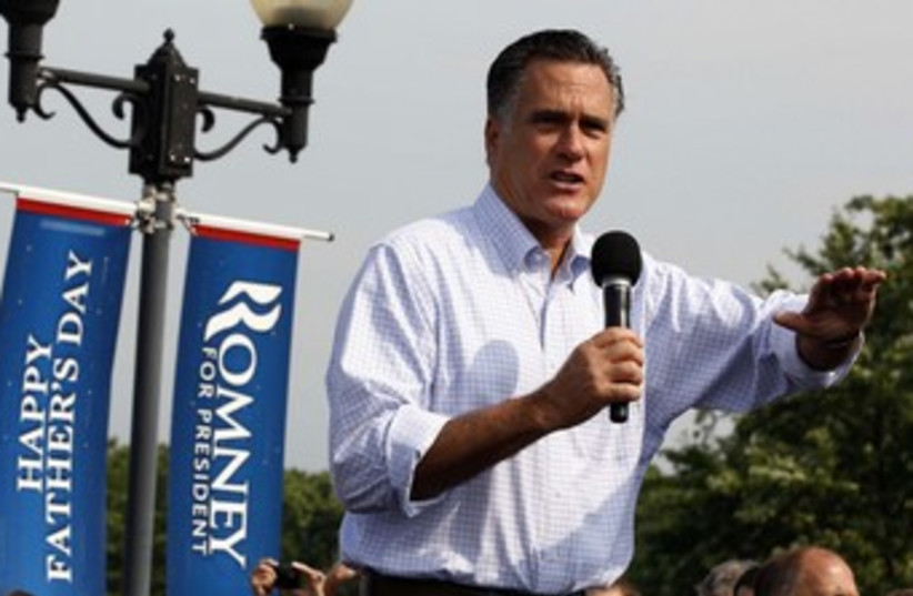 Mitt Romney on the campaign trail 370 (photo credit: REUTERS)