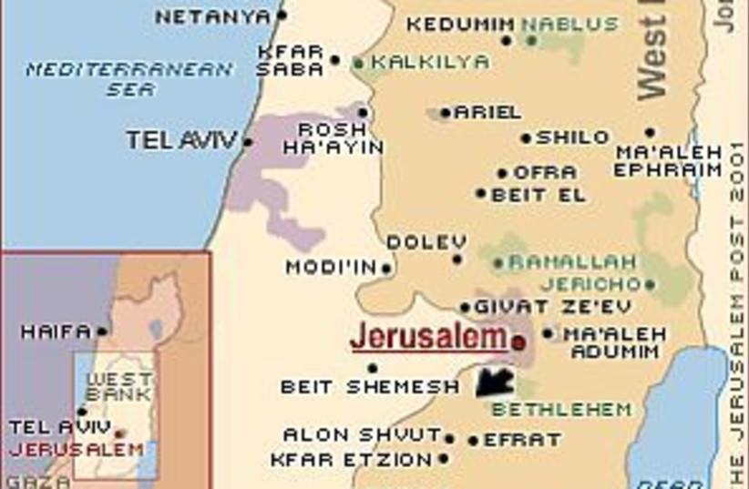 gush etzion map 298 (photo credit: )