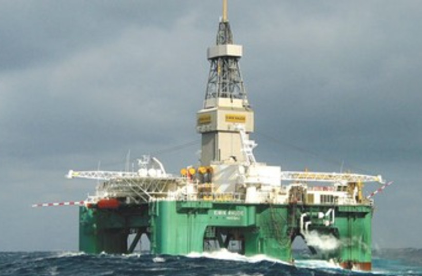 THE ELRICK RAUDE oil rig in the Burin Sea, Canada 370 (photo credit: REUTERS)