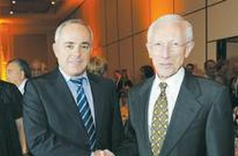 Steinitz and  Stanley Fischer 370 (photo credit: Courtesy)