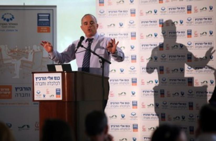 Steinitz speaks at Caesarea conference 370 (photo credit: Yossi Zamir)