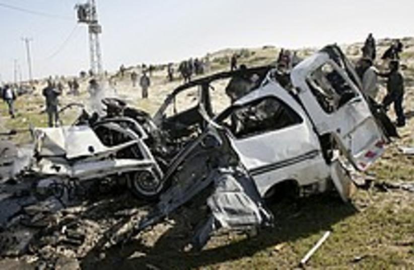 gaza strike car 224.88 (photo credit: AP)