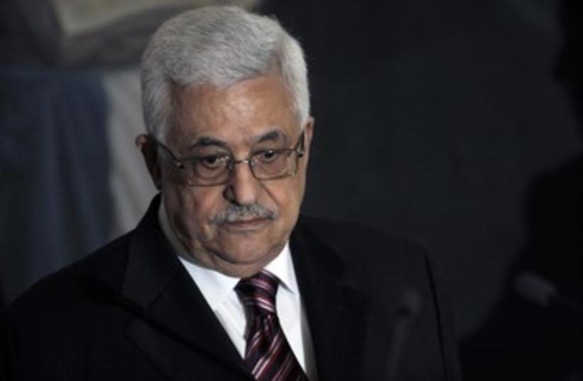 Palestinian Authority President Mahmoud Abbas 370 (R) (photo credit: Luis Galdamez / Reuters)