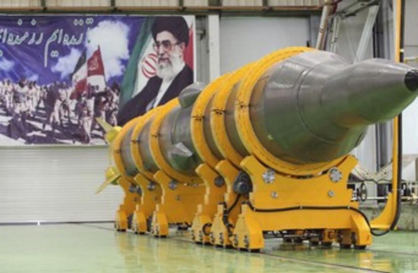 Iran's Sajil 2 missile 370 (photo credit: REUTERS)