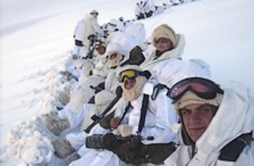 Turk troops in snow 224. (photo credit: AP)