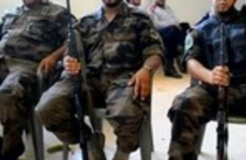 Libyan security officials 150 (photo credit: Screenshot)