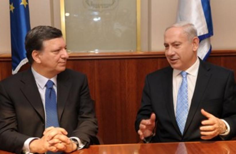 Netanyahu and Barroso 370 (photo credit: Moshe Milner/GPO)