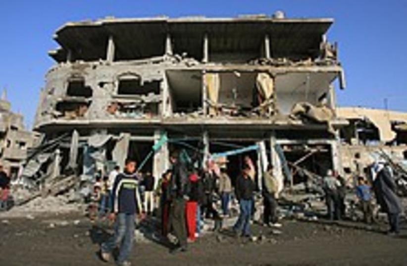 Gaza rubble brill 224.88 (photo credit: AP)