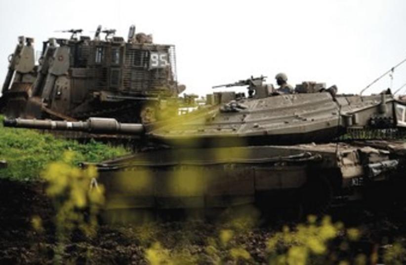 MERKAVA tank 370 (photo credit: Michael Shvadron/IDF spokesperson)