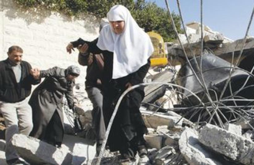 A demolished Palestinian home in east Jerusalem 370 (R) (photo credit: Ammar Awad/Reuters)