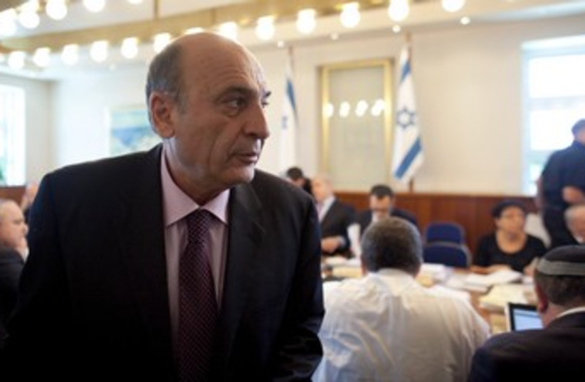 Kadima leader Shaul Mofaz 370 (R) (photo credit: Reuters / Pool)