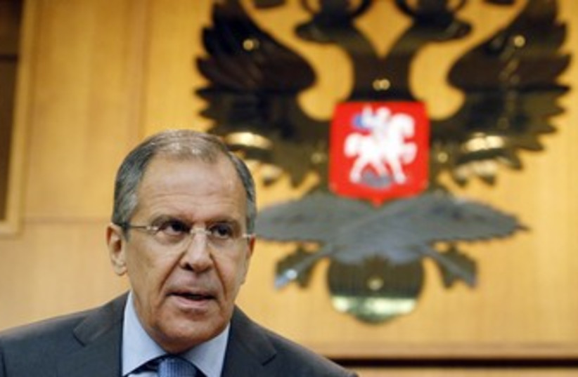 Russian Foreign Minister Sergei Lavrov in Moscow 370 (photo credit: Denis Sinyakov / Reuters)