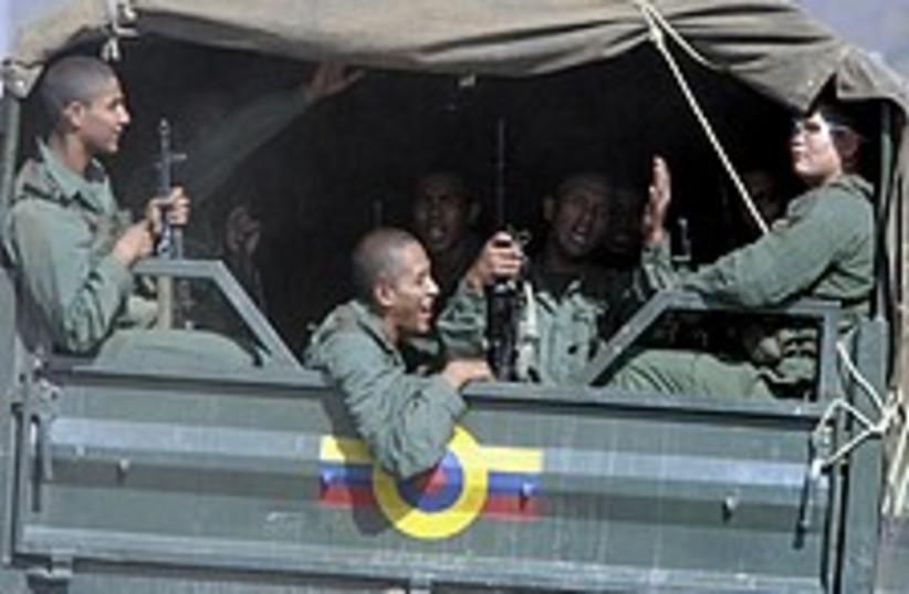 Venezuelan troops 224.88 (photo credit: AP)