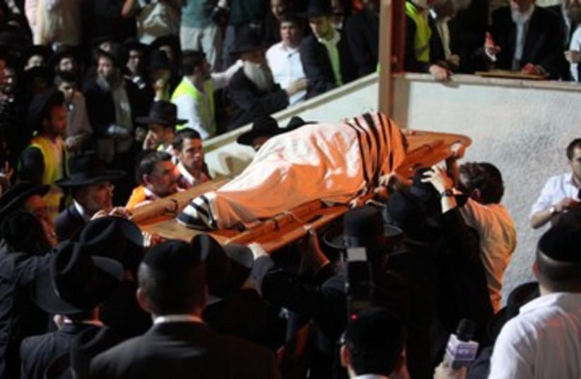 Rav Elyashiv funeral (photo credit: Marc Israel Sellem/The Jerusalem Post)