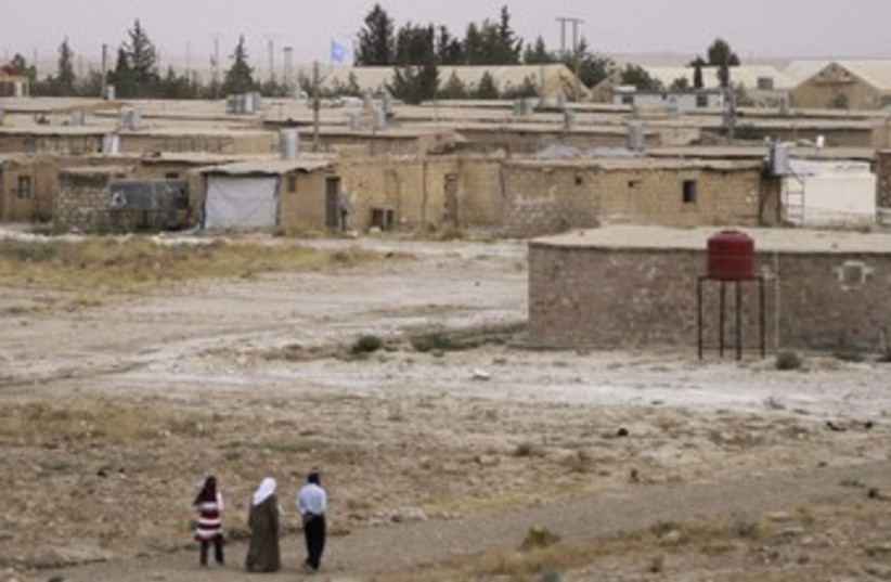 A Palestinian refugee camp in Syria 370 (R) (photo credit: Khaled Al Hariri / Reuters)