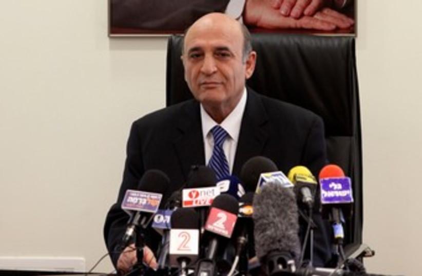 Kadima leader Shaul Mofaz 370 (photo credit: Marc Israel Sellem / The Jerusalem Post)