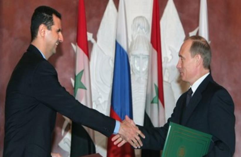 Putin and Assad (R370) (photo credit: REUTERS)