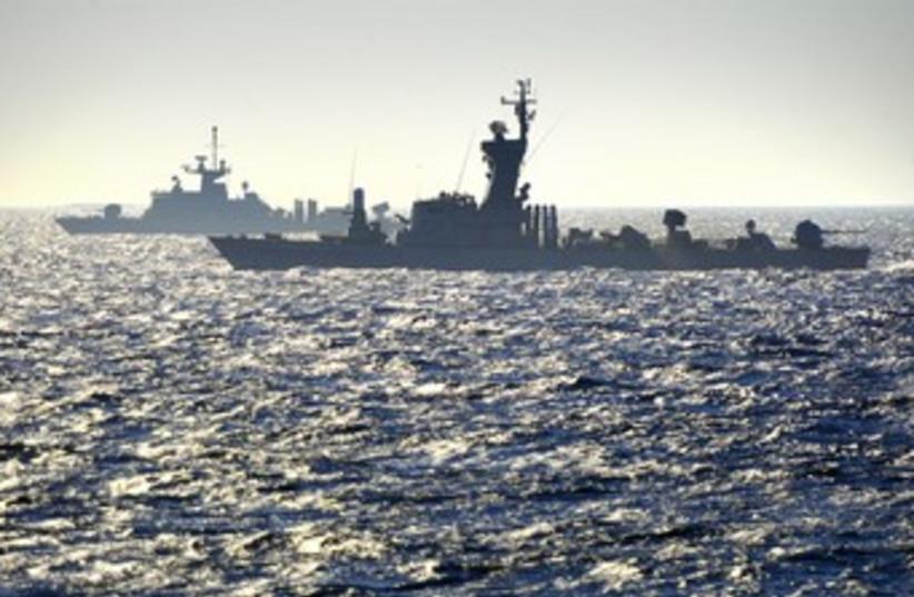 Greek-Israeli joint naval exercise 370 (photo credit: IDF Spokesman's Office)