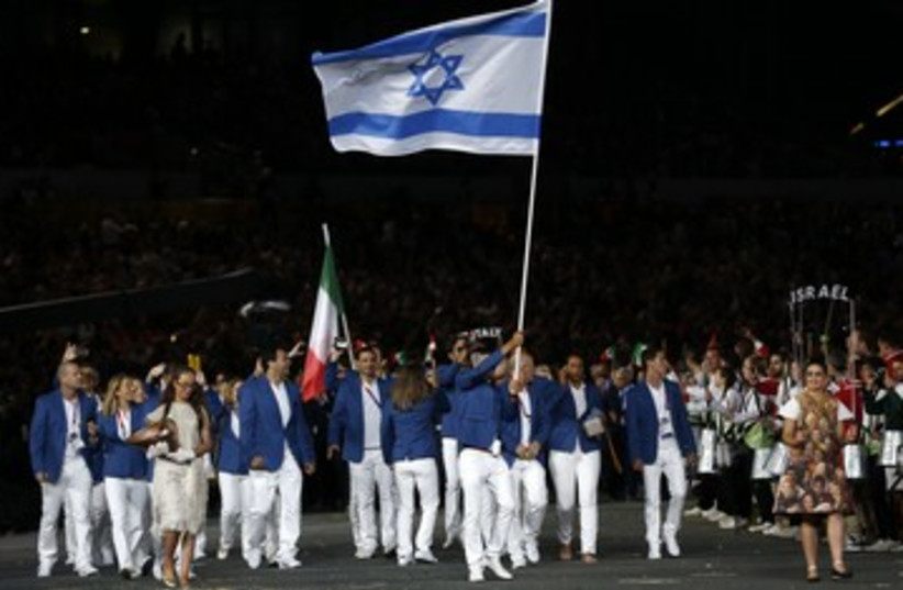 The Israeli delegation at the 2012 London Olympics 370 (R) (photo credit: Murad Sezer / Reuters)