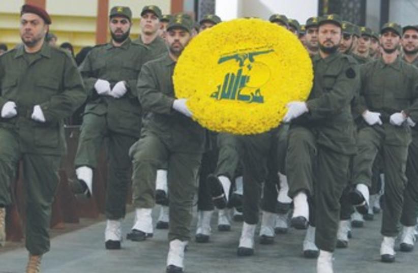 Hezbollah's Martyrs' Day in south Beirut (photo credit: Sharif Karim/Reuters)