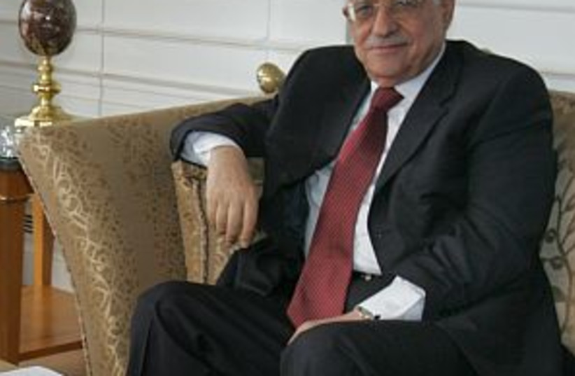 abbas on couch 298 (photo credit: AP)