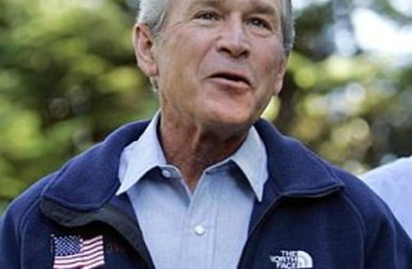 bush talking 298  (photo credit: AP)