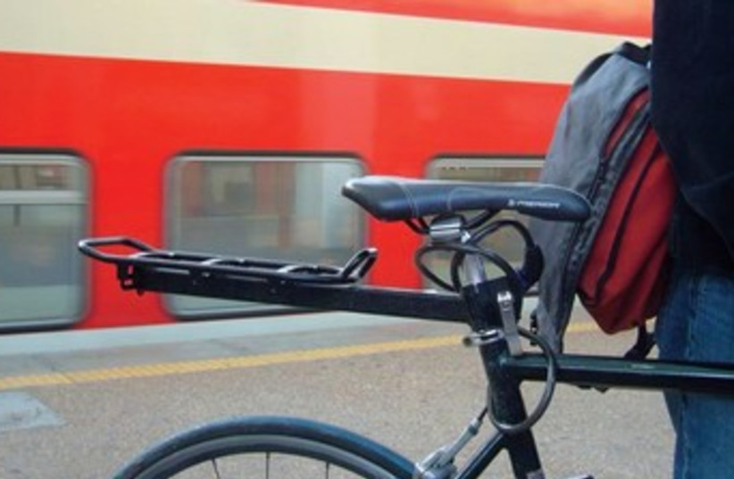 Bicycles on trains 370 (photo credit: Illustrative photo: Israel for Bicycles)