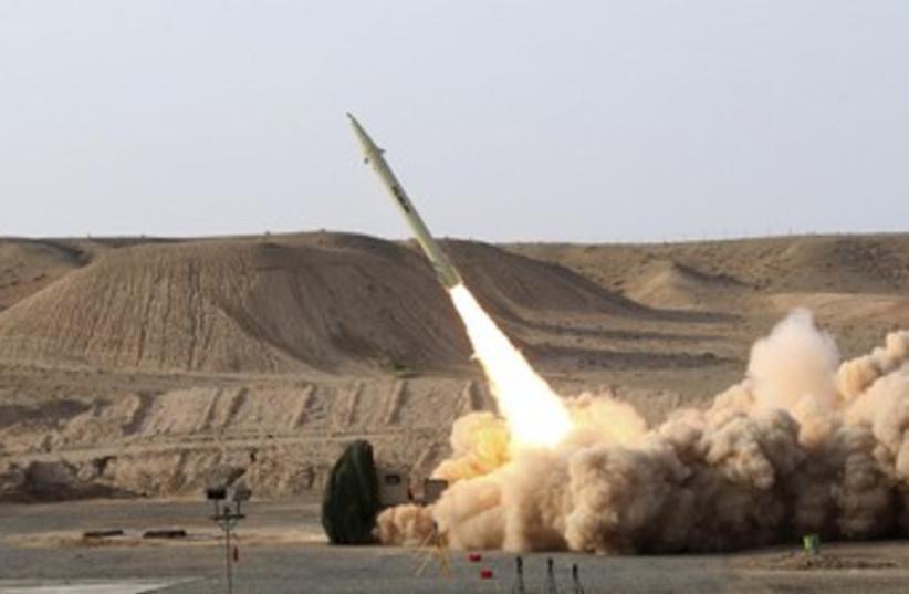 Iranian Fateh-110 missile 370 (photo credit: REUTERS)