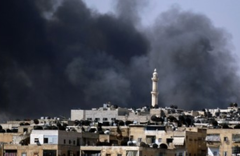 Aleppo fighting 370 (photo credit: REUTERS)