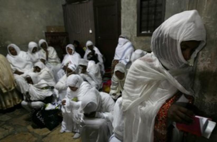 Ethiopian Orthodox worshipers [illustrative]370 (photo credit: Baz Ratner / Reuters)