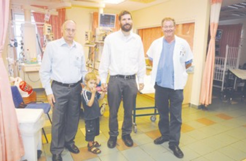 DAVID MEITAV with father 370 (photo credit: Western Galilee Government Hospital)