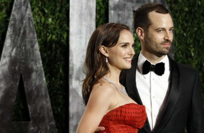Actress Portman and her fiance Millepied 370 (photo credit: Danny Moloshok / Reuters)