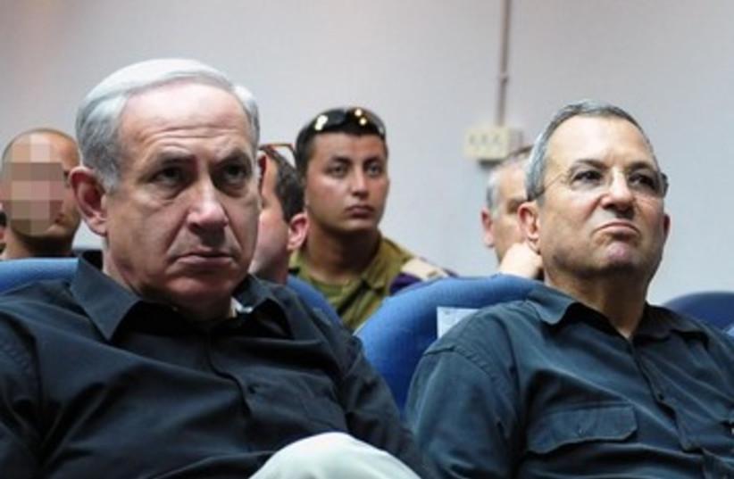 Prime Minister Netanyahu, Defense Minister Barak.390 (photo credit: Ariel Harmoni / GPO)