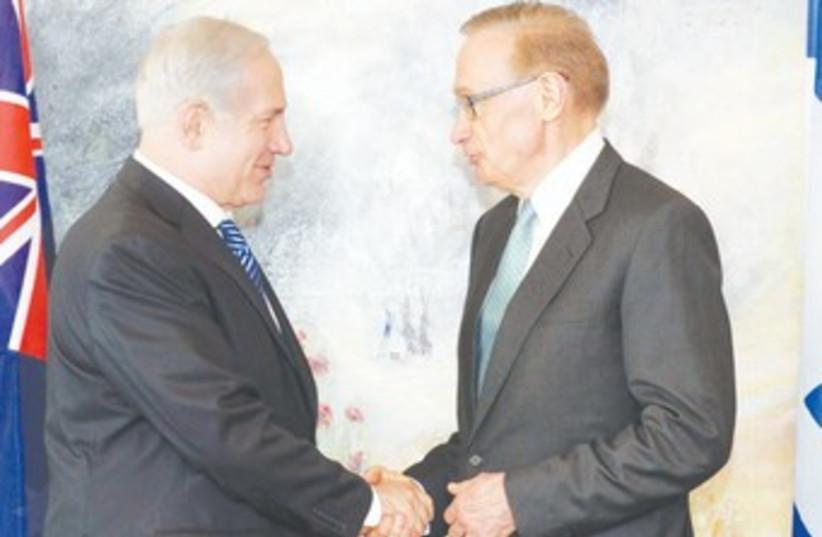 Netanyahu with Australian FM Bob Carr 370 (photo credit: GPO)