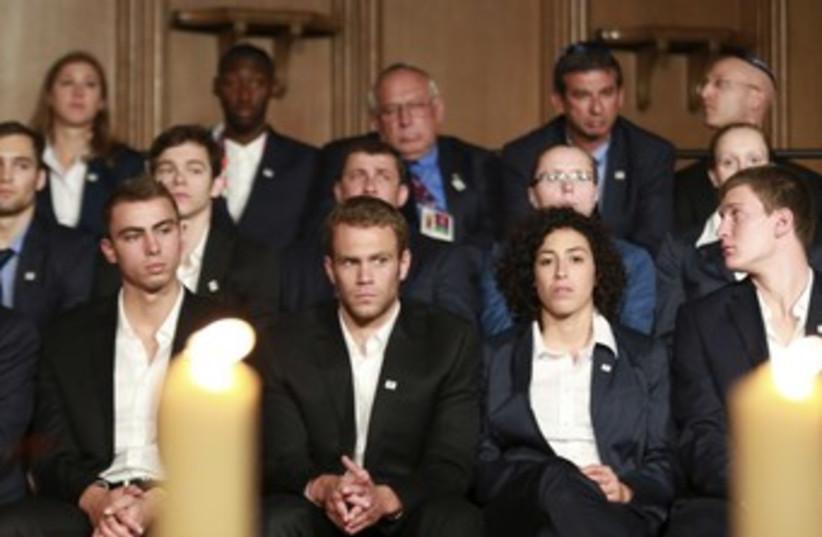 Israeli olympians at Munich memorial 370 (R) (photo credit: REUTERS)