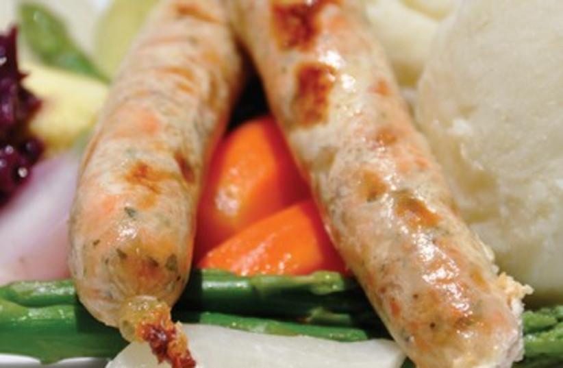 Tishbi speciality: handmade fish sausages 370 (photo credit: Courtesy)
