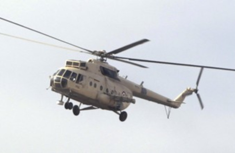 Egyptian military helicopter 370 (photo credit: reuters)