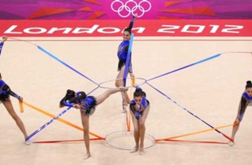 Israei gymnastics team in London  (photo credit: Mike Blake / Reuters)
