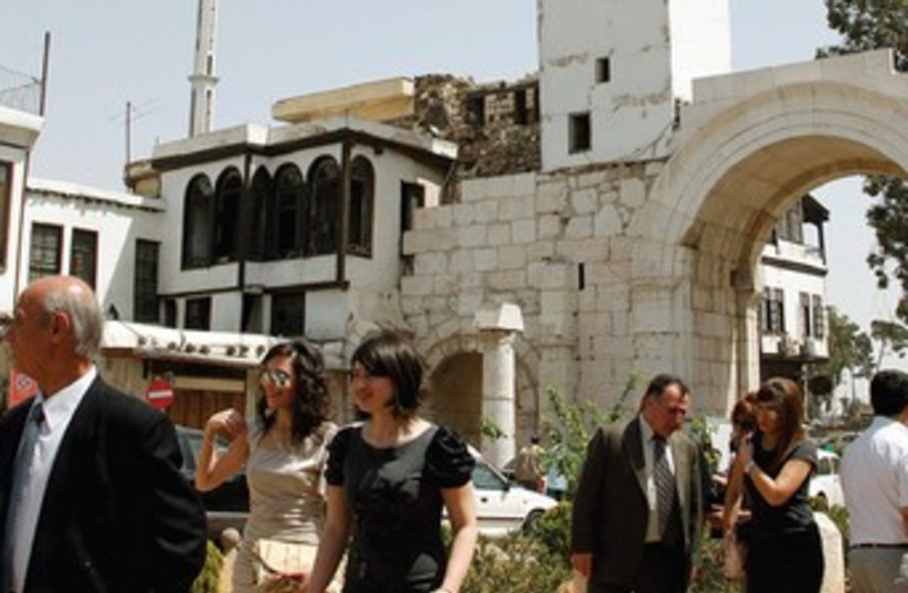 Church in Damascus 370 (photo credit: Reuters)