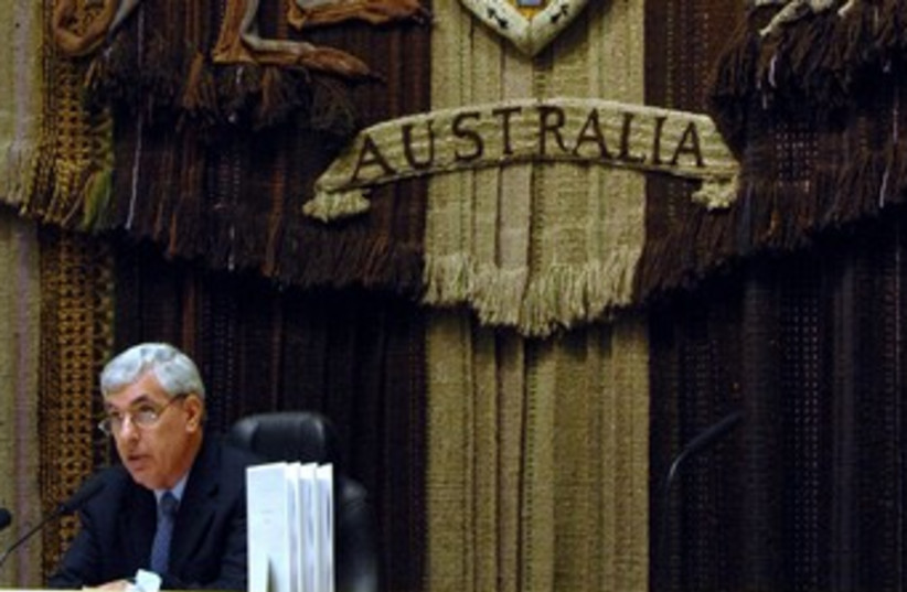 A Federal Court Judge in Canberra, Australia 370 (R) (photo credit: reuters)