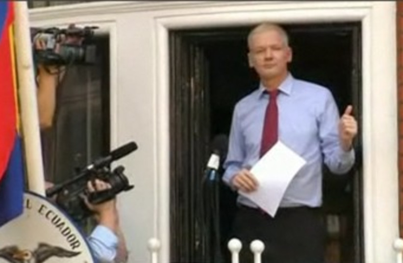 WikiLeaks founder Julian Assange 370  (photo credit: Screenshot)
