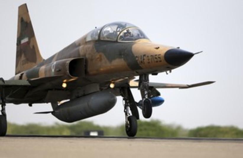 Iranian Air Force F-5F fighter plan [illustrative] 370 (photo credit: REUTERS/Fars News)