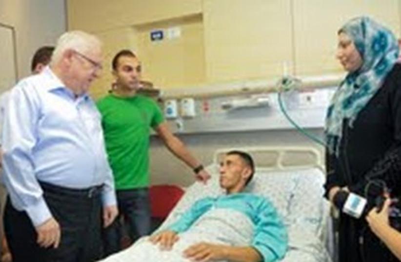 Reuven Rivlin visits Jamal Julani (photo credit: Avi Hayon)