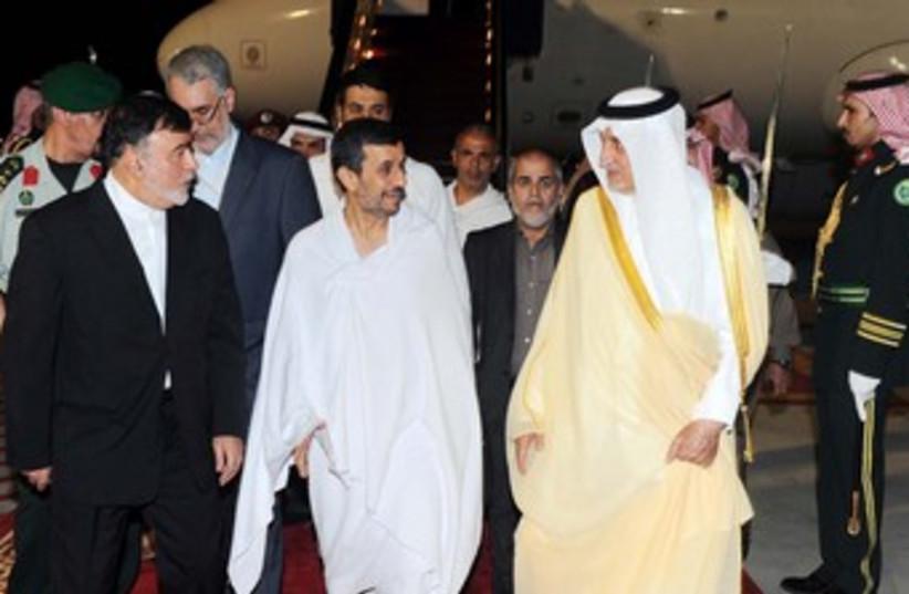 Ahmadinejad and Saudi Prince (R370) (photo credit: REUTERS/Handout .)