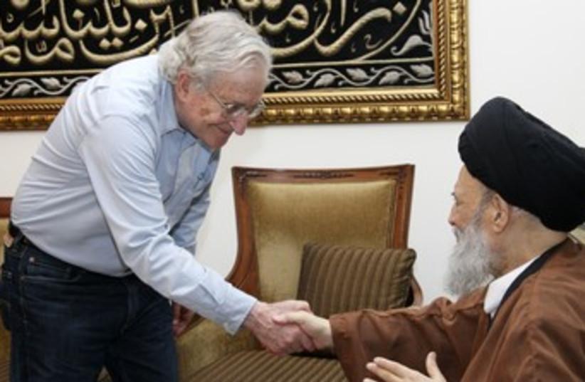 Chomsky with Ayatollah (R370) (photo credit: REUTERS)